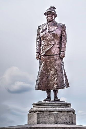 Standbeeld koningin Wilhelmina Noordwijk aan Zee Nederland