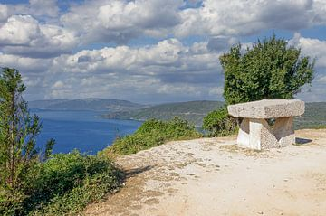 Aire de repos sur l'île de Cres sur Peter Eckert