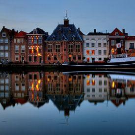 Avond in historisch centrum Maassluis van Sigrid Klop