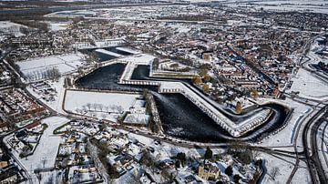 Schnee in Geertruidenberg von Sebastiaan van der Ham
