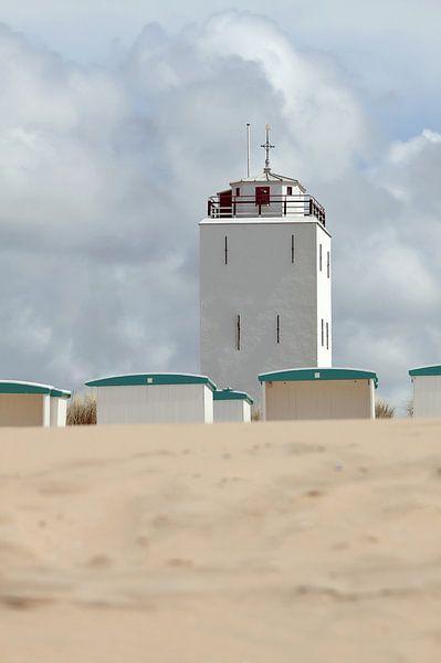 Leuchtturm in Katwijk am Meer von Mieneke Andeweg-van Rijn