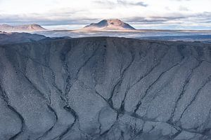 Uitzicht vanuit de krater Hverfell