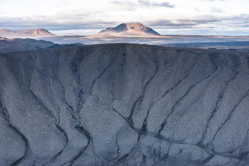 Uitzicht vanuit de krater Hverfell van Leendert Noordzij Photography
