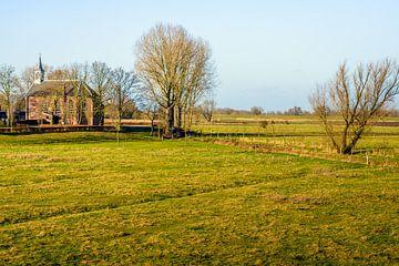 Protestantse kerk in het Nederlandse dorp Giessen van Ruud Morijn