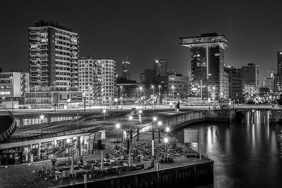 In the night, in Rotterdam.