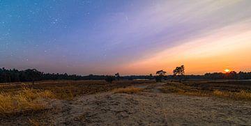Sonnenuntergang der Dünen und Wiesen von Enrique De Corral