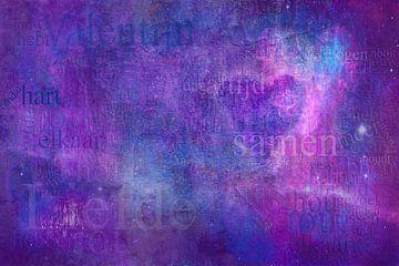 Abstracte compositie Liefde van Sigrid Klop