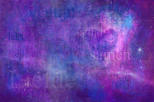 Abstracte compositie Liefde van