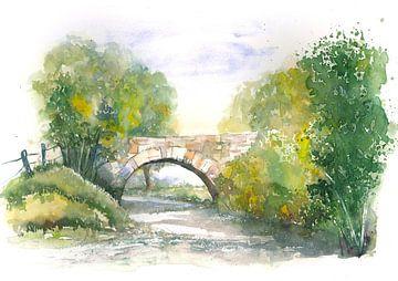 Steinbrücke von Jitka Krause