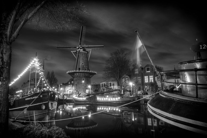 Goudse molen in de haven van Eus Driessen