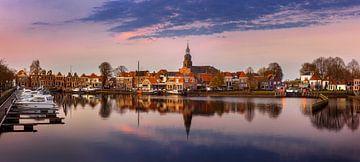 Blokzijl-8, Zonsondergang panorama, Nederland van Adelheid Smitt