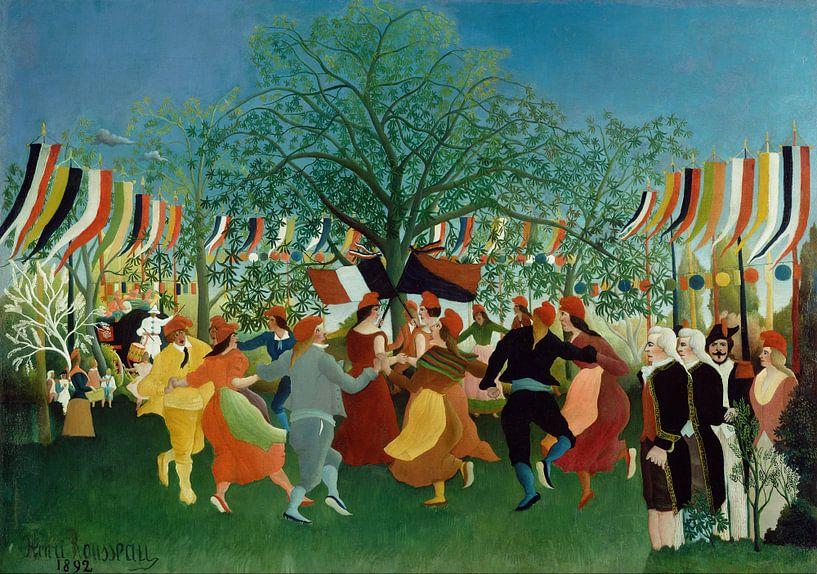 Henri Rousseau. A Centennial of Independence van 1000 Schilderijen