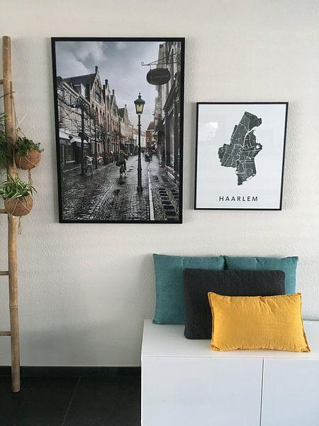 Klantfoto: Haarlem: Warmoesstraat na de bui. van Olaf Kramer