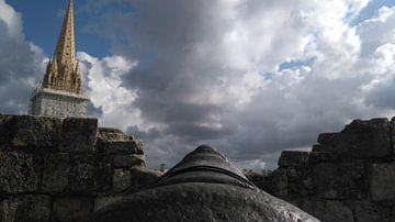 Ansicht von der Kanone, Schloss von Caen, Frankreich von Deborah Blanc
