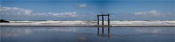 Steigender Meeresstrand Ostende von Frank Van Durme