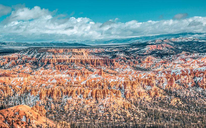 Uitzicht over het dal, Bryce Canyon, Utah van Rietje Bulthuis
