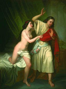 Frau von Potiphar und Joseph, Antonio María Esquivel - 1854 von Atelier Liesjes
