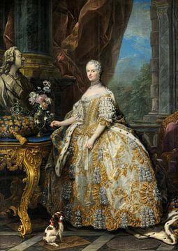 Marie Leszczinska, Reine de France, Charles-André van Loo sur