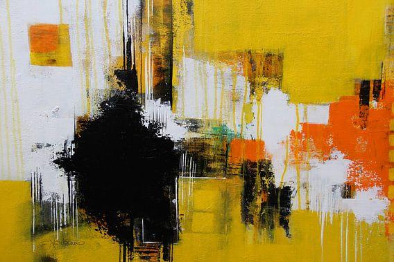 Abstraktes Bild in Sonnengelb von Claudia Neubauer