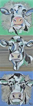 Niederländische Kühe Ländlich von Kunstenares Mir Mirthe Kolkman van der Klip