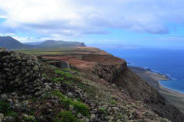 Landschap, Lanzarote van Annabel van Wensveen