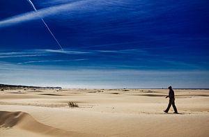 Strandwandeling op strand Terschelling van Paul Teixeira
