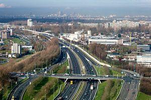 Uitzicht op Den Haag vanuit Zoetermeer van