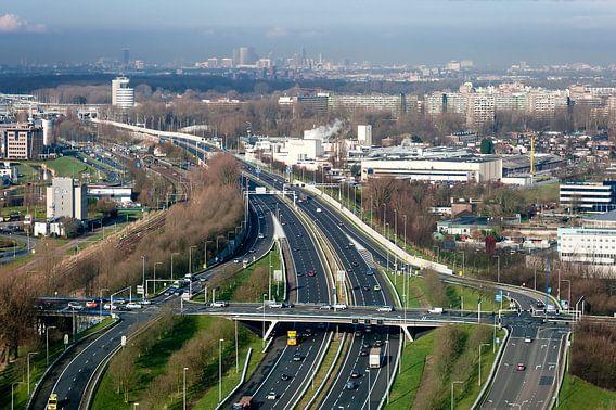 Uitzicht op Den Haag vanuit Zoetermeer