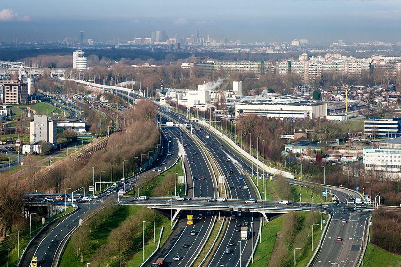 Uitzicht op Den Haag vanuit Zoetermeer von John Verbruggen
