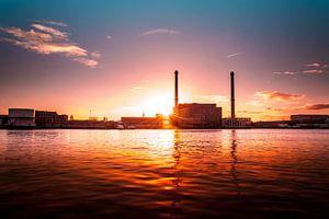 Rotterdam, Maashaven sunset van