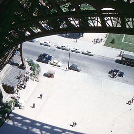 Vintage foto Eiffeltoren 1961 Parijs van Jaap Ros
