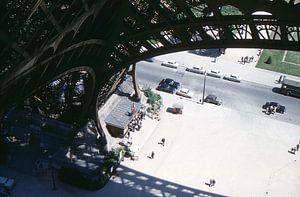 Vintage foto Eiffeltoren 1961 Parijs van