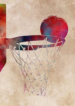 Basketbal 2 sportkunst #basketbal van JBJart Justyna Jaszke