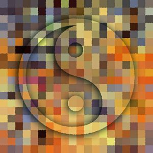 Yin en Yang abstract