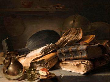 Stillleben mit Büchern, Jan Lievens
