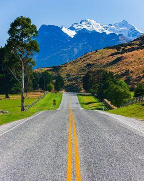 De weg naar Glenorchy, Nieuw Zeeland van Henk Meijer Photography
