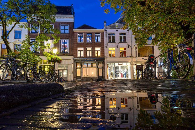 Avondspiegeling op de Vollersbrug Utrecht van André Russcher