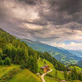 Landschap in Oostenrijk van Patrick Herzberg