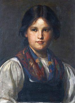 Dirndl, FRANZ VON DEFREGGER, 1870 von Atelier Liesjes