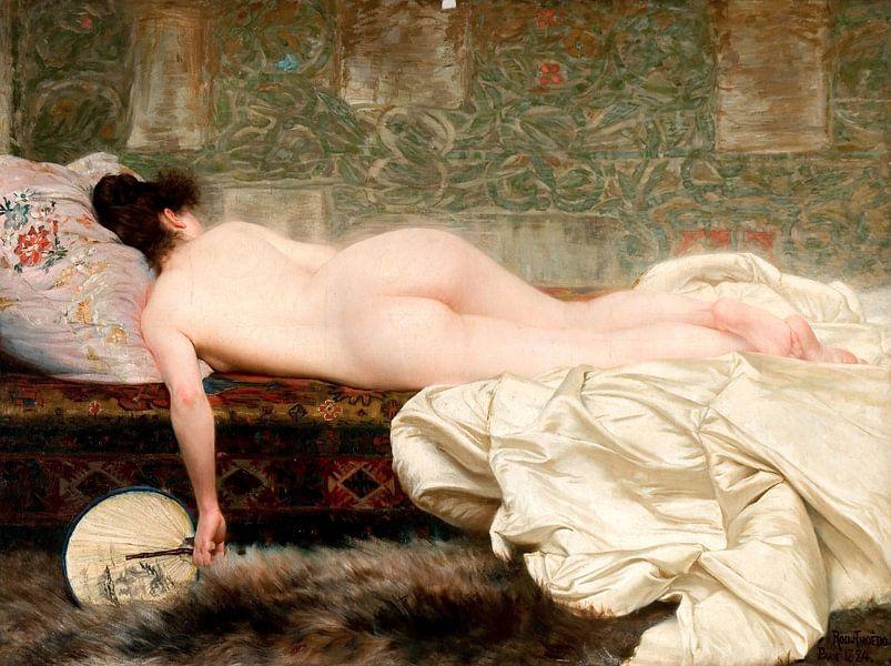 Study of a woman, Rodolfo Amoedo von Meesterlijcke Meesters