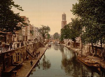 The Oude Gracht Hamburgerbrug, Utrecht sur Vintage Afbeeldingen
