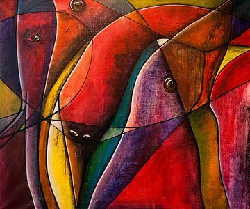 Glas in lood look! van Mary Pedersen
