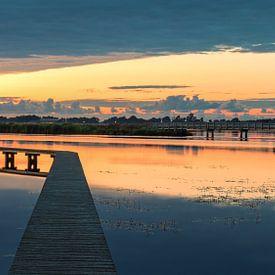 Sonnenuntergang 't Roegwold Fledermauspfad von Marga Vroom