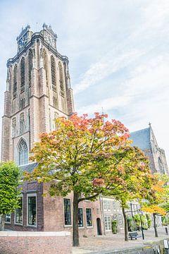 De Grote of Onze-Lieve-Vrouwekerk in Dordrecht van Fotografie Jeronimo