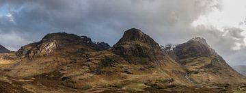 The Three Sisters - Glen Coe vallei - Schotland von Capture The Mountains