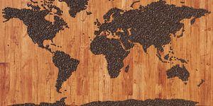 Wereldkaart koffiebonen