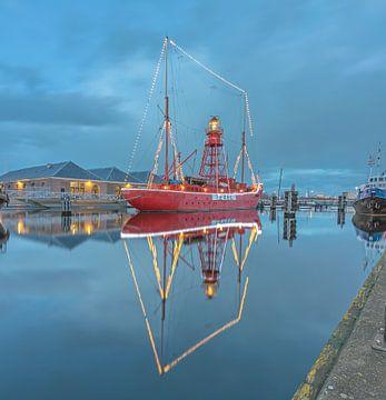 Lichtschip Texel in Den Helder von Justin Sinner Pictures ( Fotograaf op Texel)