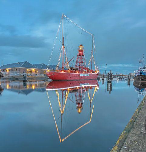Lichtschip Texel in Den Helder van