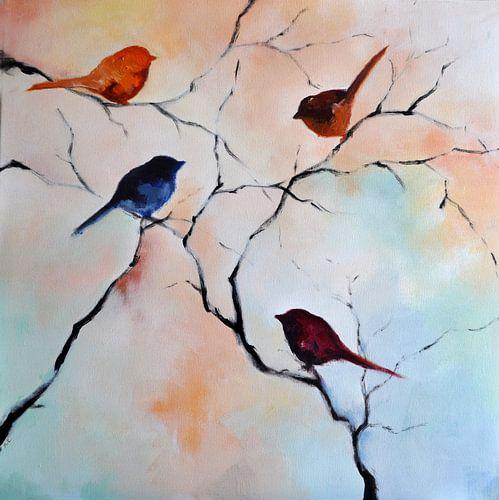 Birds in the garden 4 van Maria Kitano