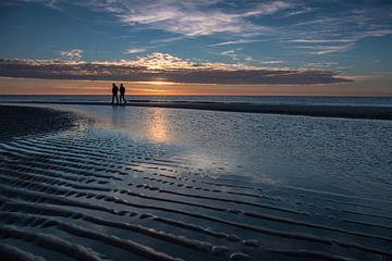 Zonsondergang op Maasvlakte 2 strand von Annemieke Klijn